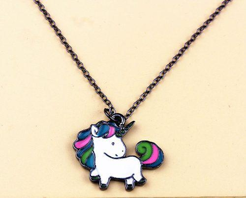 Dije Con Cadena Unicornio Colores Trendy Regalo