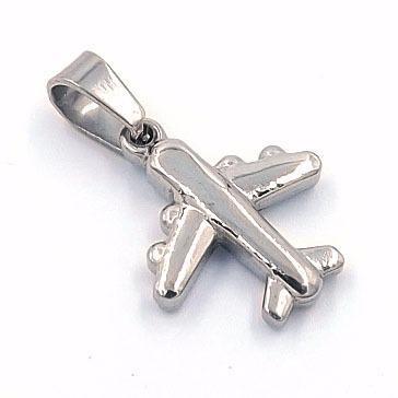 Dije De Acero Inoxidable Diseño Avión Eg