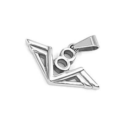 Dije De Acero Inoxidable Diseño Emblema Motor V8