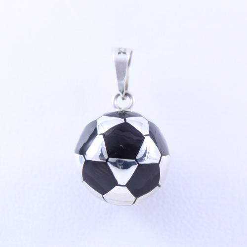 Dije De Balón De Fútbol Soccer En Plata Ley.925 S/c