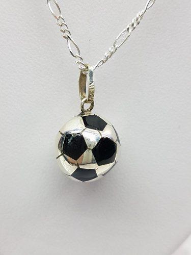 Dije De Balon De Futbol Plata Ley.925 Incluye Cadena Mod002