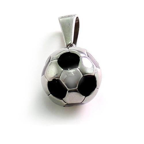 Dije De Balon De Futbol Soccer De Acero Inoxidable