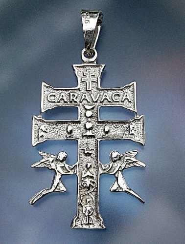 Dije De Cruz Caravaca En Plata Fina Ley.925