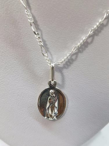 Dije De Medalla De La Virgen Maria Plata Ley.925 Joyeria