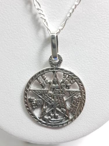Dije De Tetragrama-ton Grande Plata Ley.925 Incluye Cadena