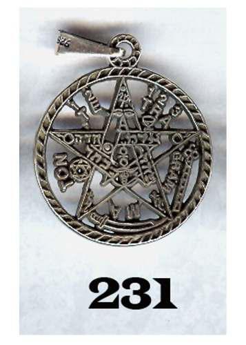 Dije De Tetragramaton De Plata Grande Ley 0.925 Vv4