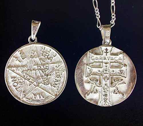 Dije De Tetragramaton Y Caravaca En 1 Plata.925 Con Cadena