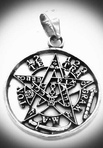 Dije Del Tetragramaton O Pentagrama En Plata 925 Detallado