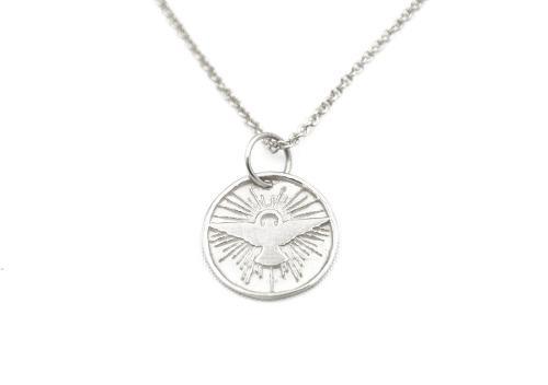 Dije, Medalla Espíritu Santo Plata.925