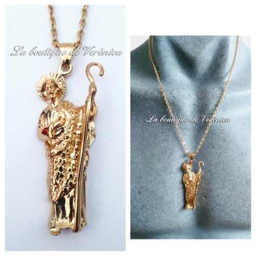 Dije Medalla San Judas Tadeo Grande Acero Inoxidable Dorado