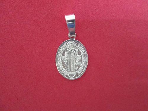 Dije O Medalla De San Benito En Plata Fina.925 Mod. 3