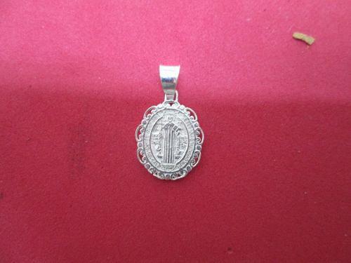 Dije O Medalla De San Benito En Plata Fina.925 Mod. 4