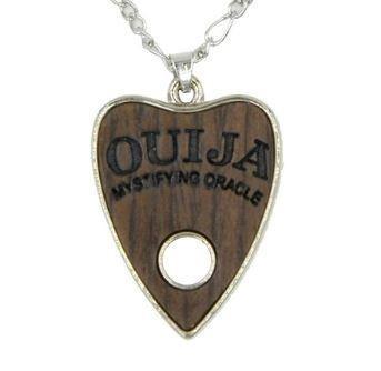 Dije Ouija Tipo Madera Acero Inoxidable Collar Dark Gothic