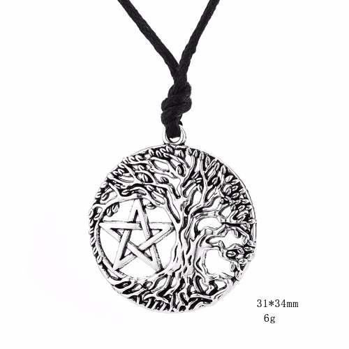 Dije Pentáculo Estrella Árbol De La Vida Celta Nordico