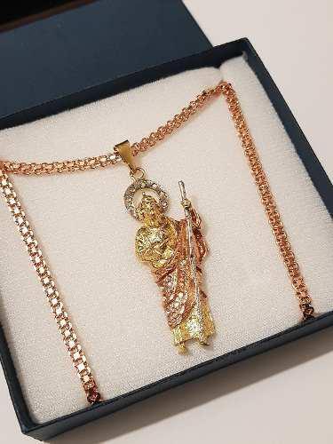 Dije San Judas Tadeo De 5.5 Cm Con Cristales Y Envio Gratis