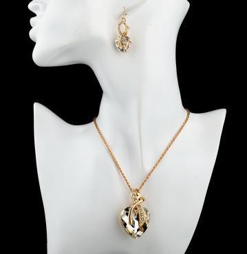 Dije,collar Y Aretes Cristal Swarov Elements Boda, Evento