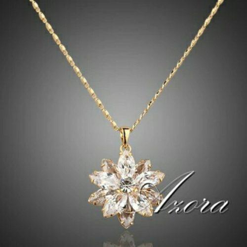 Flor De Cristal Swarovski Collar Calidad Premium