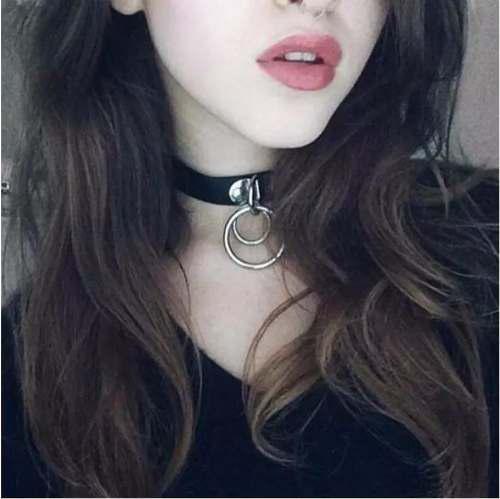 Gargantilla Collar Choker Doble Anillo Dark