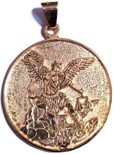 Hermosa Medalla De San Miguel Arcángel 9grs. Oro Macizo