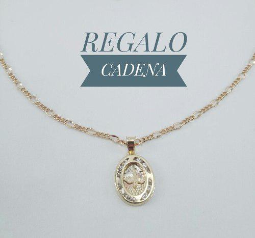 Hermosa Medalla Espíritu Santo Oro 10k Y Cadena Para