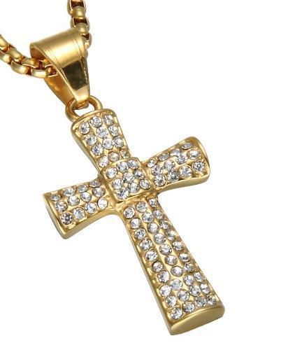 Jesucristo Crucifijo Cruz Collar Acero Inoxidable Unisex