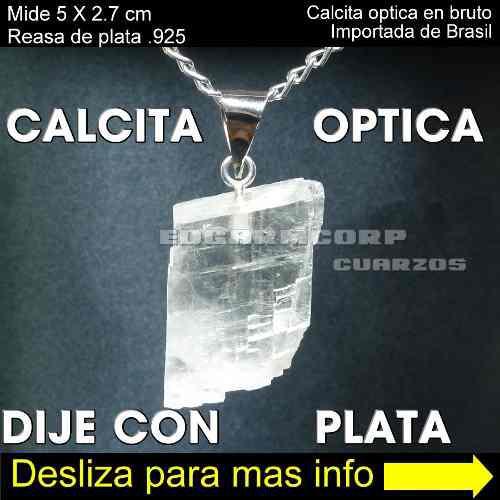 Joyeria Trc25 Dije De Calcita Optica Pieza 138