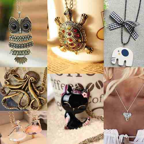 Lote De 10 Collares De Moda Vintage - Hermosos Diseños