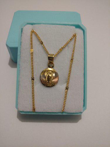 Medalla De Oro Virgen De Guadalupe Redonda Para Bautizo