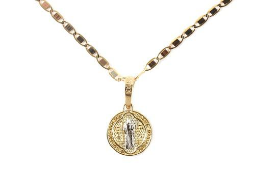 Medalla De San Benito + Cadena Espejo + Envío Gratis