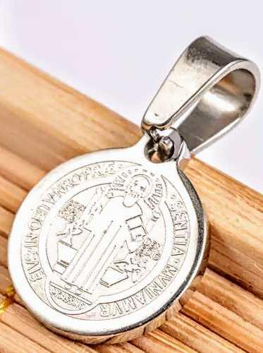 Medalla De San Benito Mini Acero Inoxidable