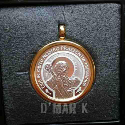 Medalla De San Benito Plata Ley.999)