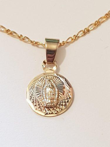 Medalla De Virgen Para Primera Comunion De Oro Lam. Envio