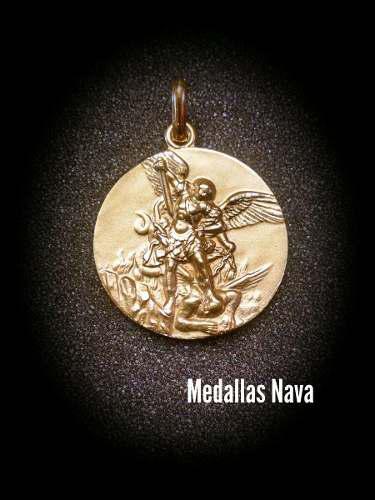 Medalla Oro 10k San Miguel Arcangel #975