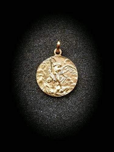 Medalla Oro 10k San Miguel Arcángel # 328/1