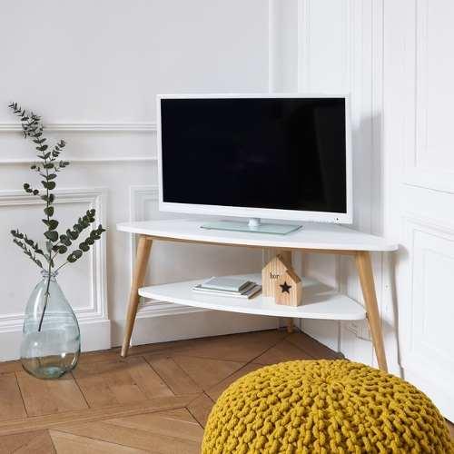 Mueble Para Tv Esquinero, Tipo Escandinavo En 2 Niveles