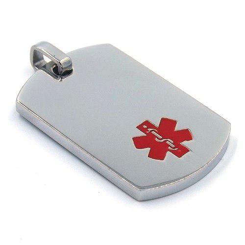 Placa De Acero Plateado Cruz Medica P/ Grabado Eg