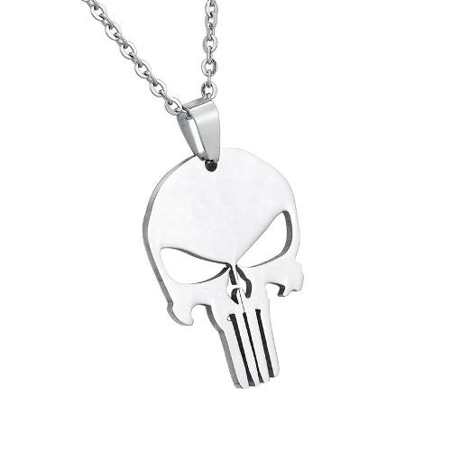 Punisher Dije Collar Acero Inoxidable Hombre Mujer Unisex
