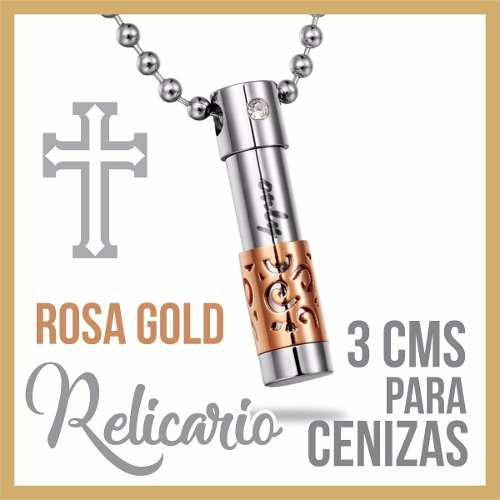 R9 Relicario Cenizas Cremacion Urna Funeraria Rosagold