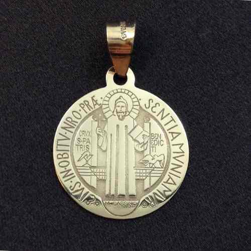 San Benito Medalla En Oro 10k Proteccion Envío Gratis Gbm