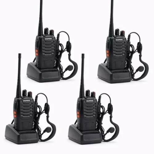 Set 4 Radios Baofeng Bf-888s Walkie Talkie Envió 24 Hrs
