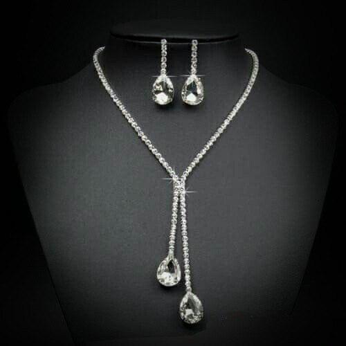 Set Collar Y Aretes Cristal Austriaco, Regalo Navidad