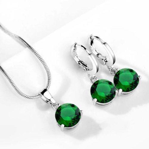 Set Collar Y Aretes De Plata Ley.925 Para Mujer Joya Regalo
