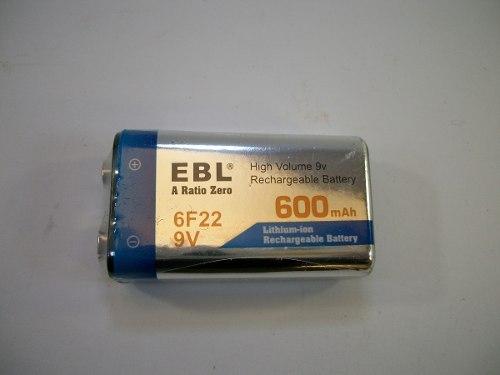 3 Pilas Batería Recargable De 9v 600 Mah + 1 Cargador