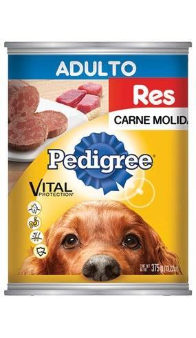 Alimento Para Perro Pedigree Adulto Res Y Vegetales Lata 375