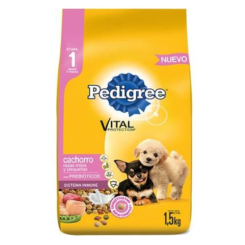 Alimento Para Perro Pedigree Vital Cachorro Razas Mini 1.5 K