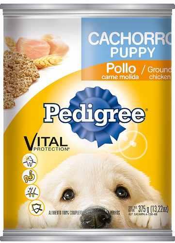 Alimento Pedigree Cachorro Molida Pollo Lata 375 Gr