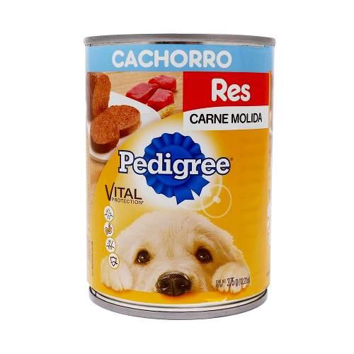 Alimento Pedigree Cachorro Molida Res Lata 375 Gr