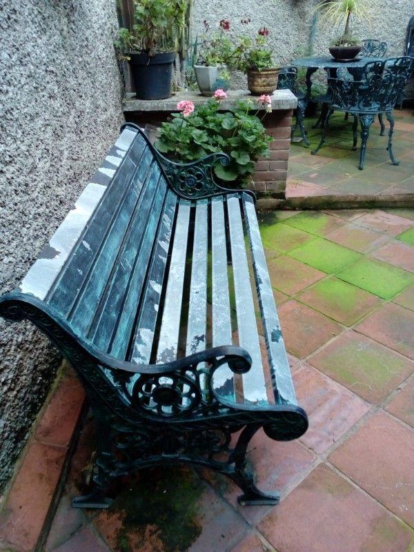 Banca de hierro forjado, para jardín