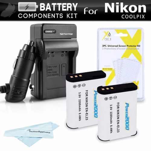 Cargador Con 2 Baterias Nikon Coolpix P900, P610, P600, B700