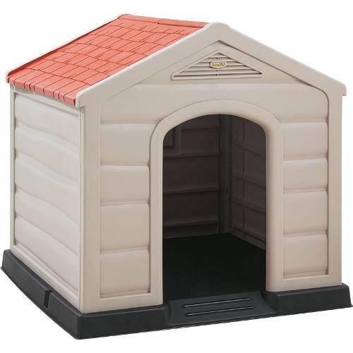 Casa Para Perro Grande De Plástico 90x90x90 Cm Envío
